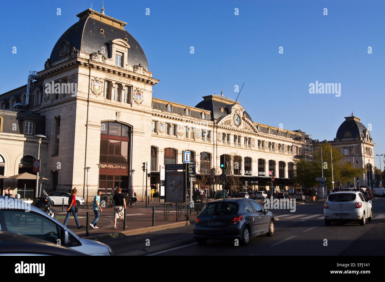 Matabiau railway station building,  1903-05, Toulouse, Haute-Garonne, France Stock Photo