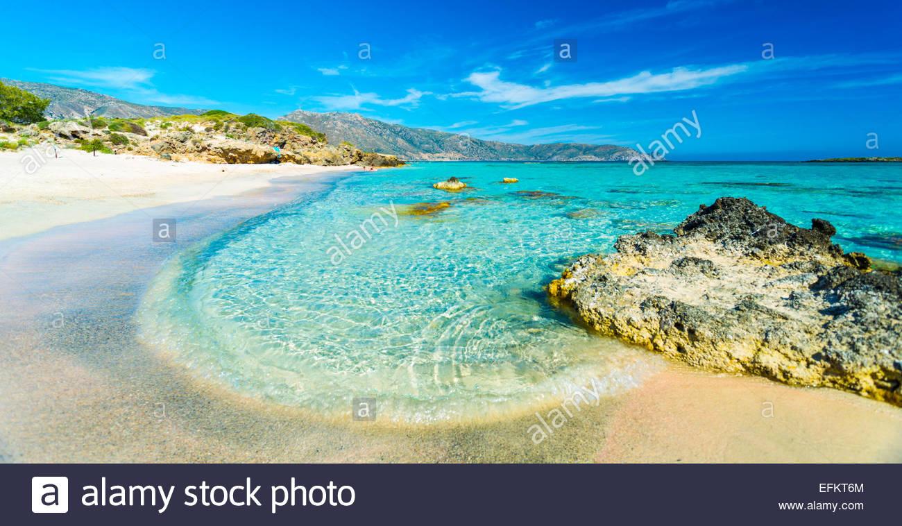 The beach of Elafonissi near Chania, Crete, GreeceStock Photo