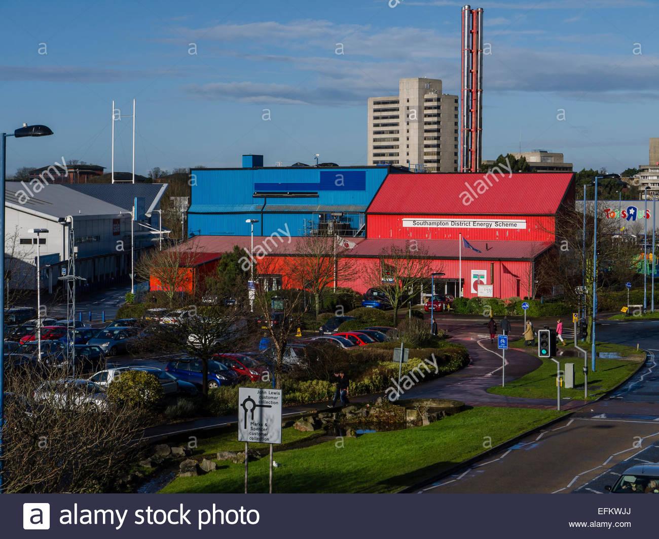 Southampton Hampshire England UK District Energy Scheme Geothermal energy heat resource - Stock Image