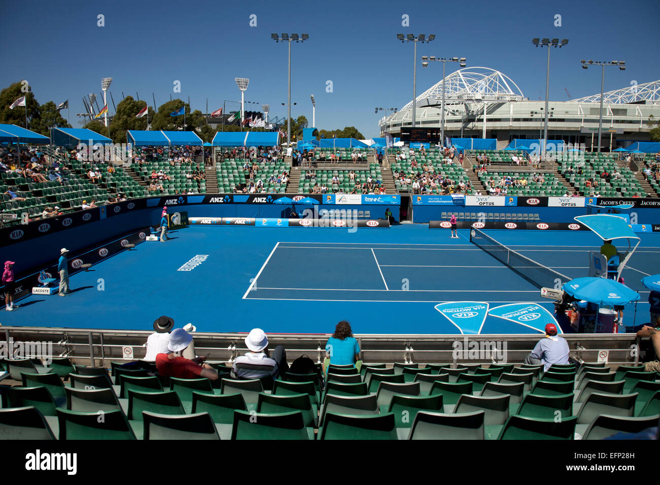Australian Open Tennis Tournament Rod Court Arena In The Background