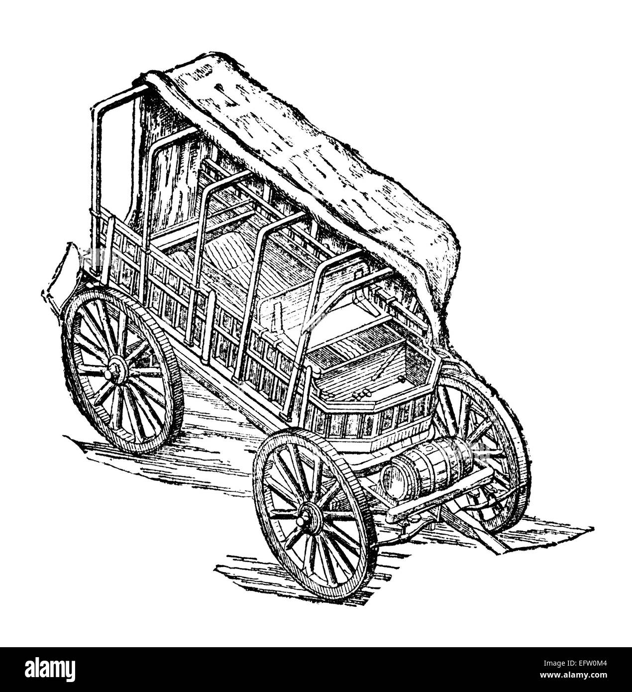 Wagon Cut Out Stock Images & Pictures - Alamy