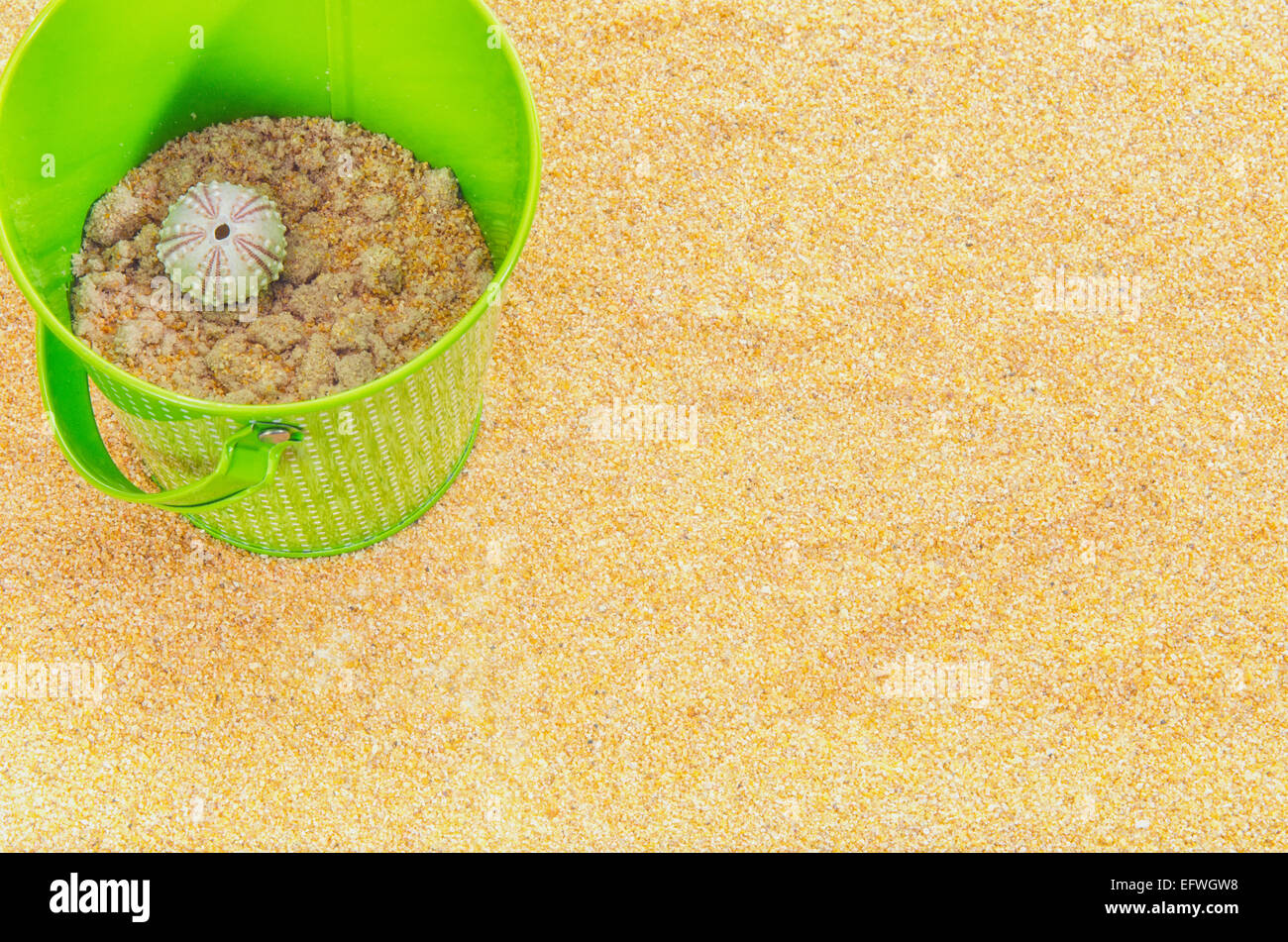 vintage-green-metal-bucket-white-polka-dots-on-sandy-beach-with-sea-EFWGW8.jpg