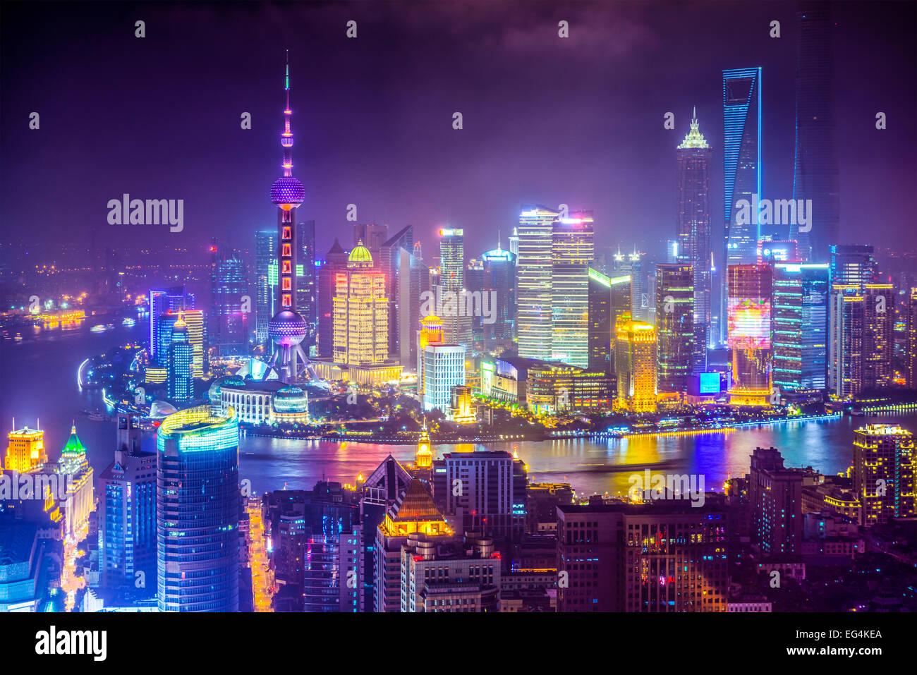 Shanghai, China aerial view cityscape. - Stock Image