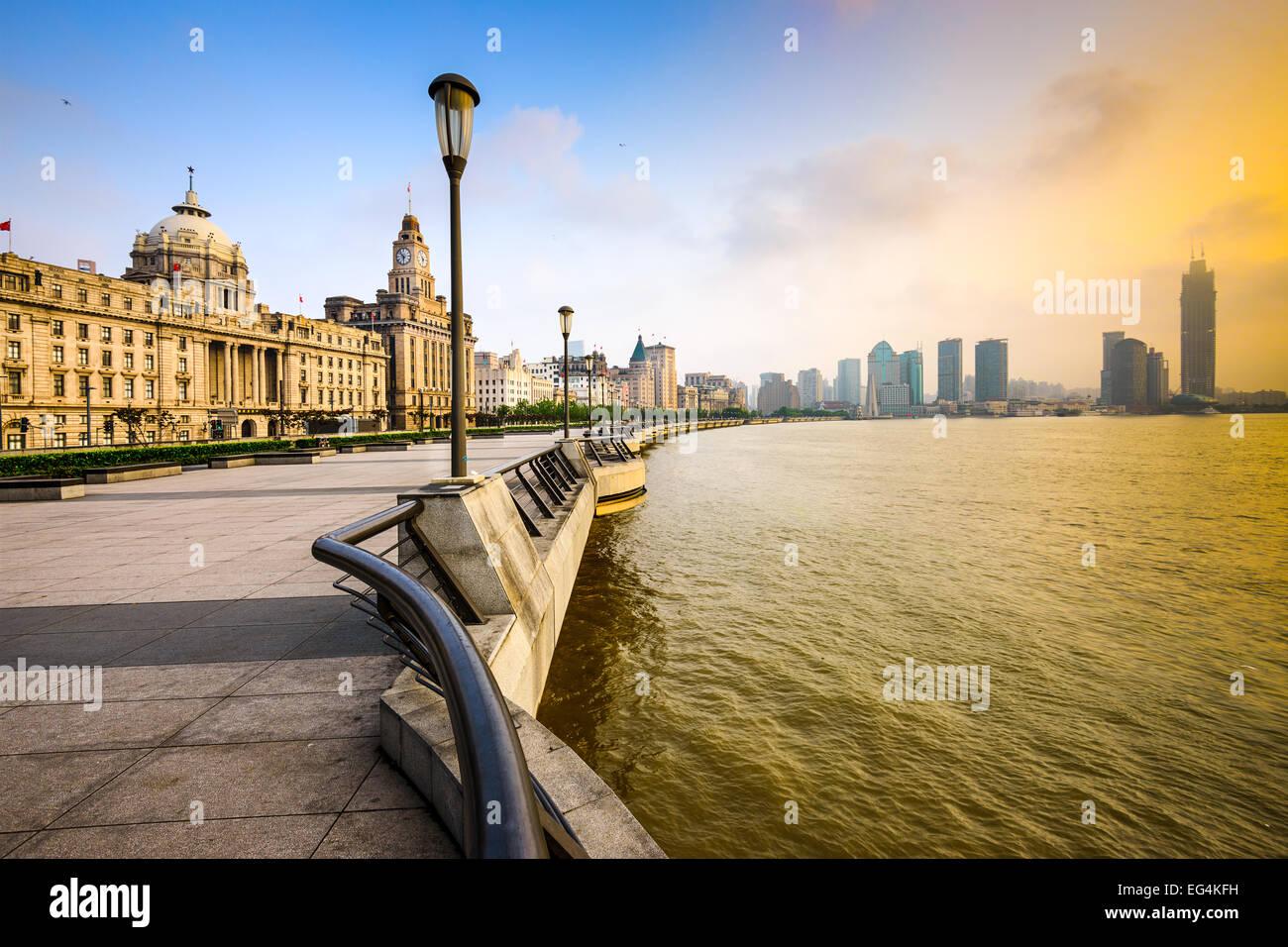 Shanghai, China cityscape at the Bund. - Stock Image