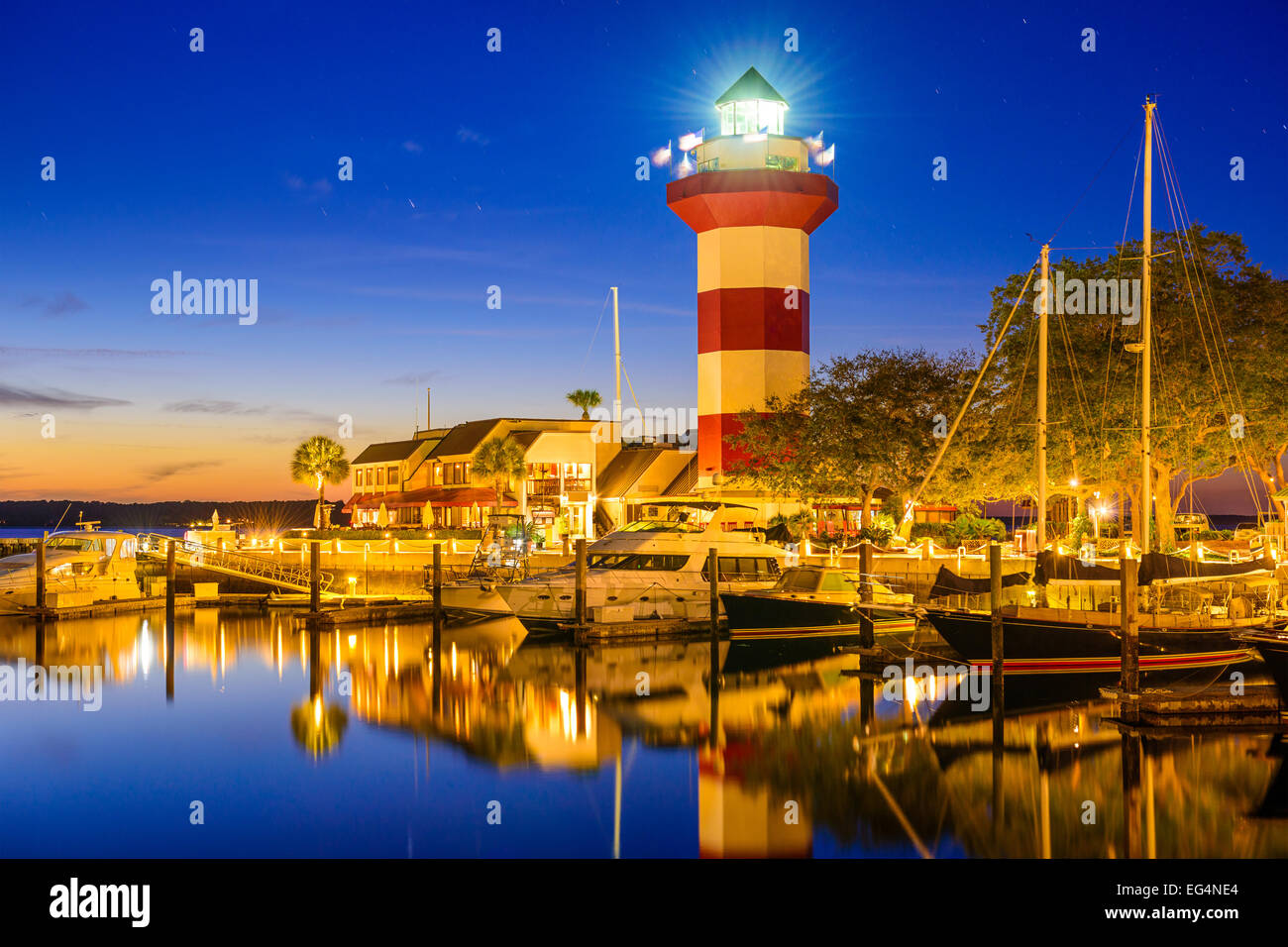 Hilton Head, South Carolina, USA lighthouse. - Stock Image