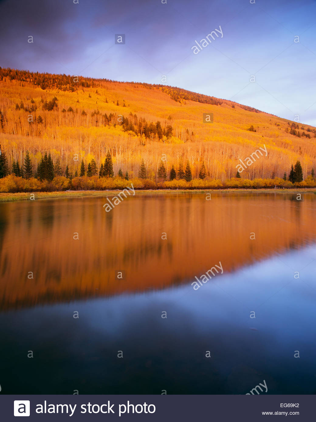 Warner Lake,  La Sal Mountains.  Manti La Sal National Forest, Utah. - Stock Image