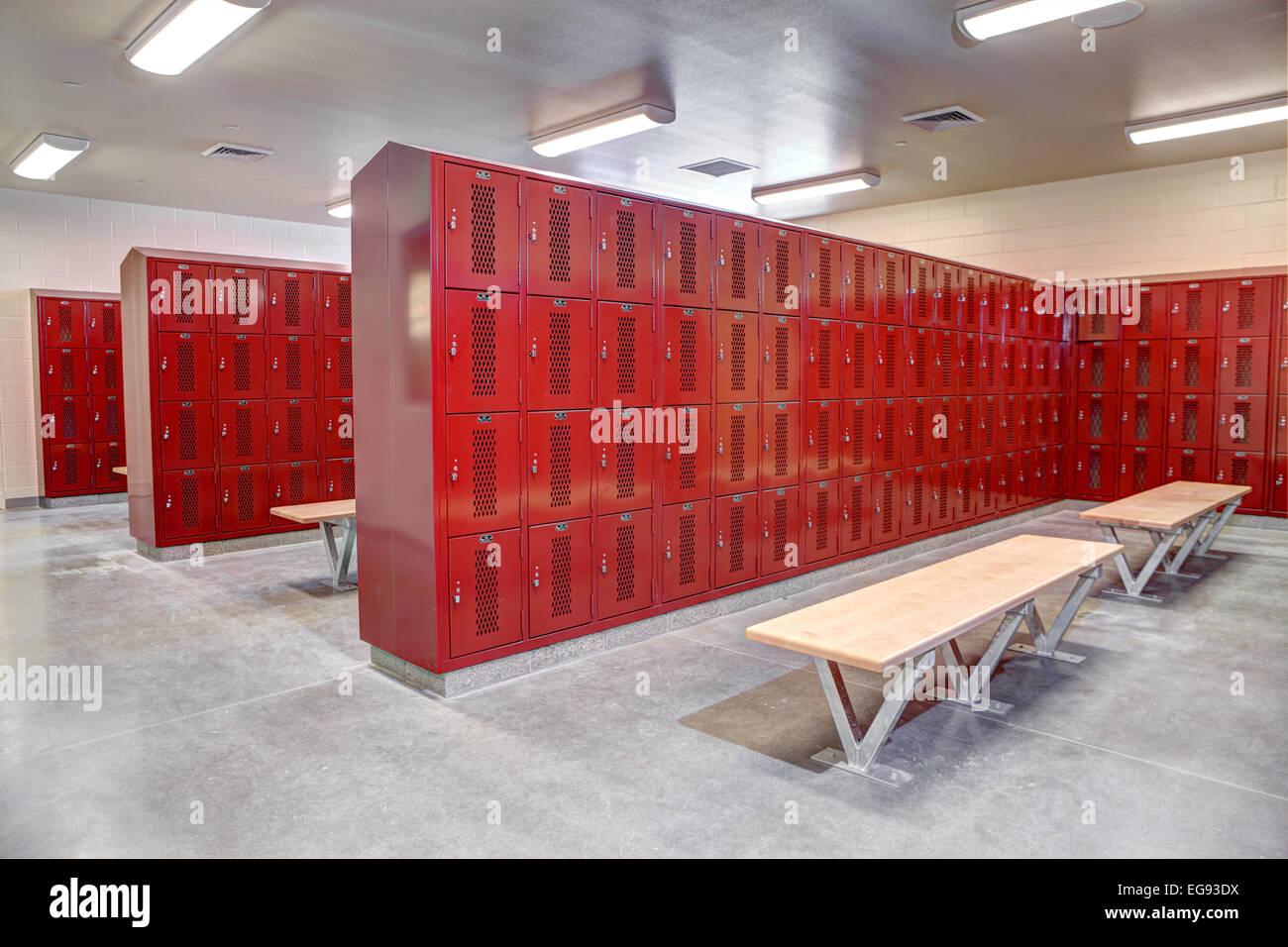 The interior of a High School locker room Stock Photo 78876278 Alamy