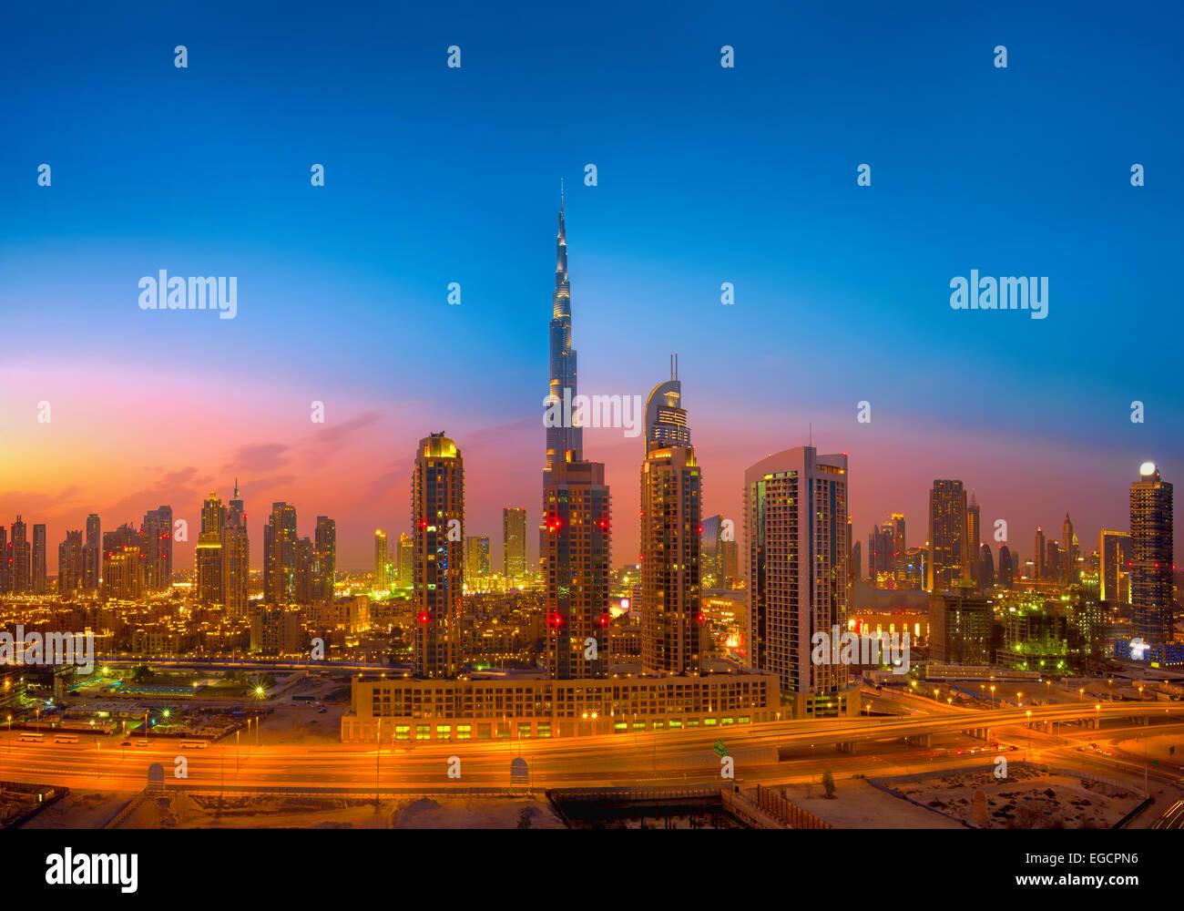 Dubai Skyline - Stock Image