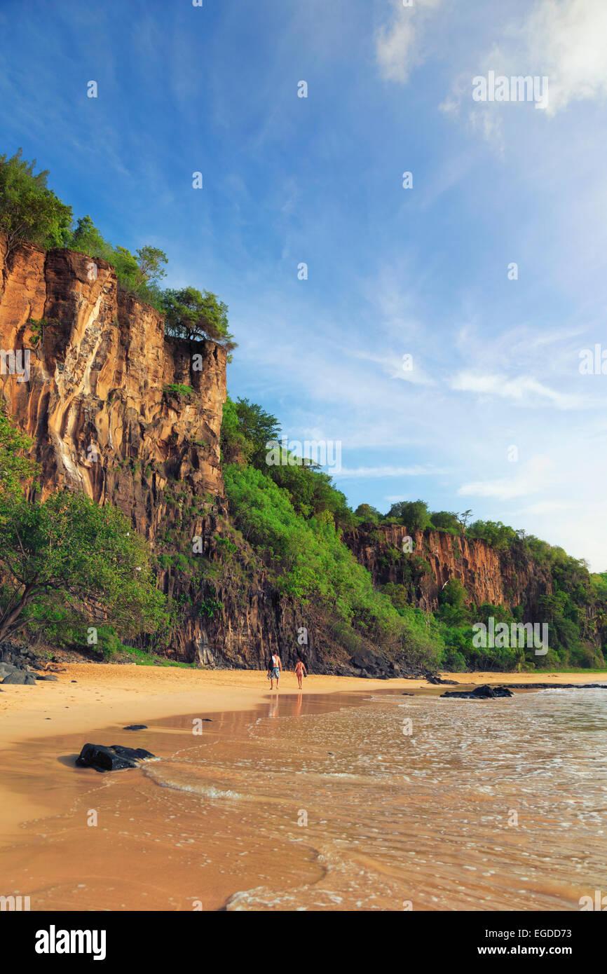 Brazil, Fernando de Noronha, Fernando de Noronha Marine National Park, Sancho Bay - Stock Image