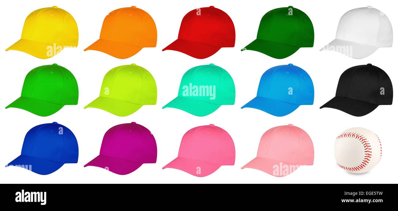 444b460f Set of colorful baseball caps Stock Photo: 78987913 - Alamy