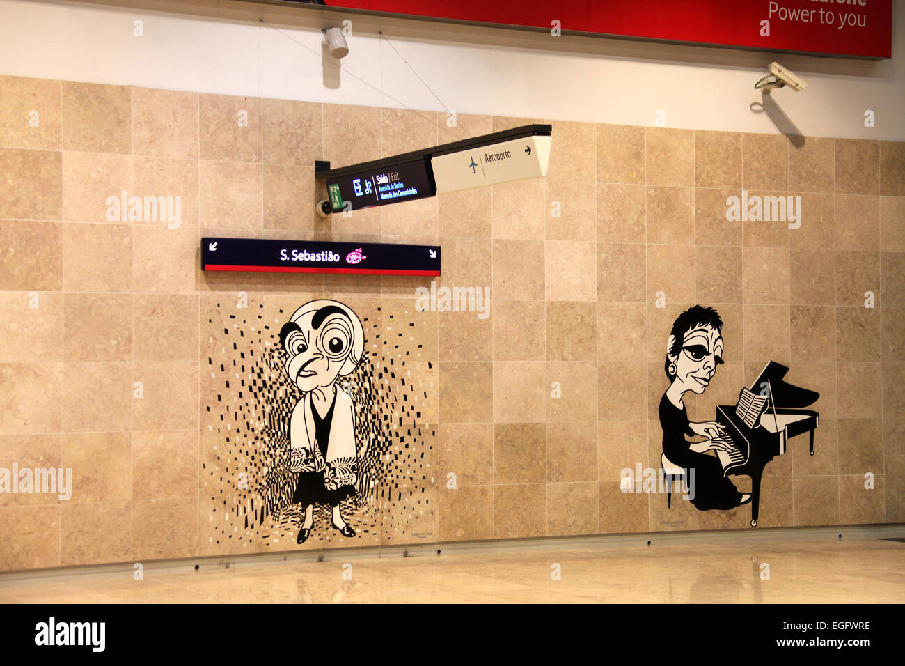 Artwork in the Lisbon Subway Stock Photo: 79025506 - Alamy