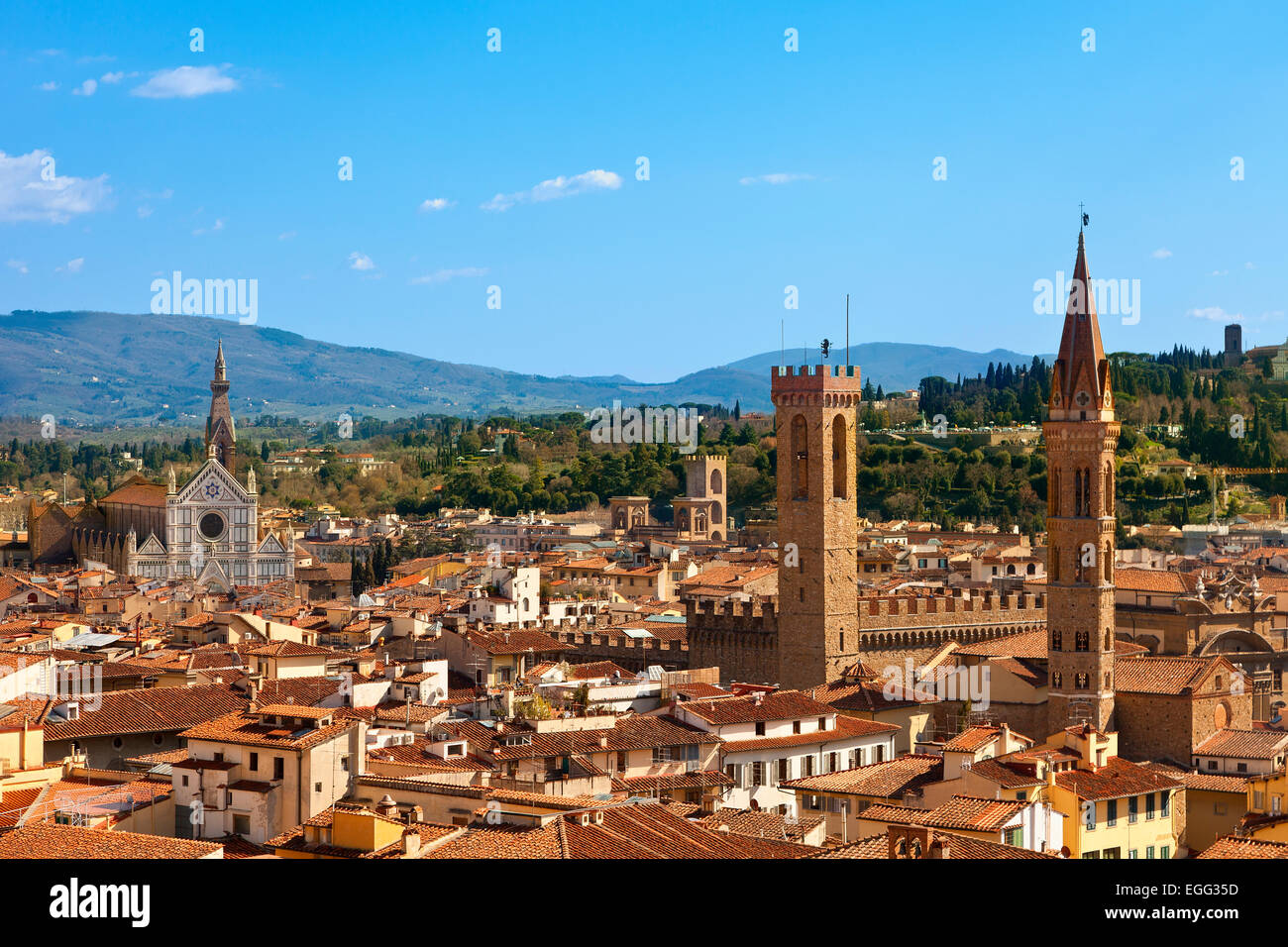 Italy, Skyline of Florence - Stock Image