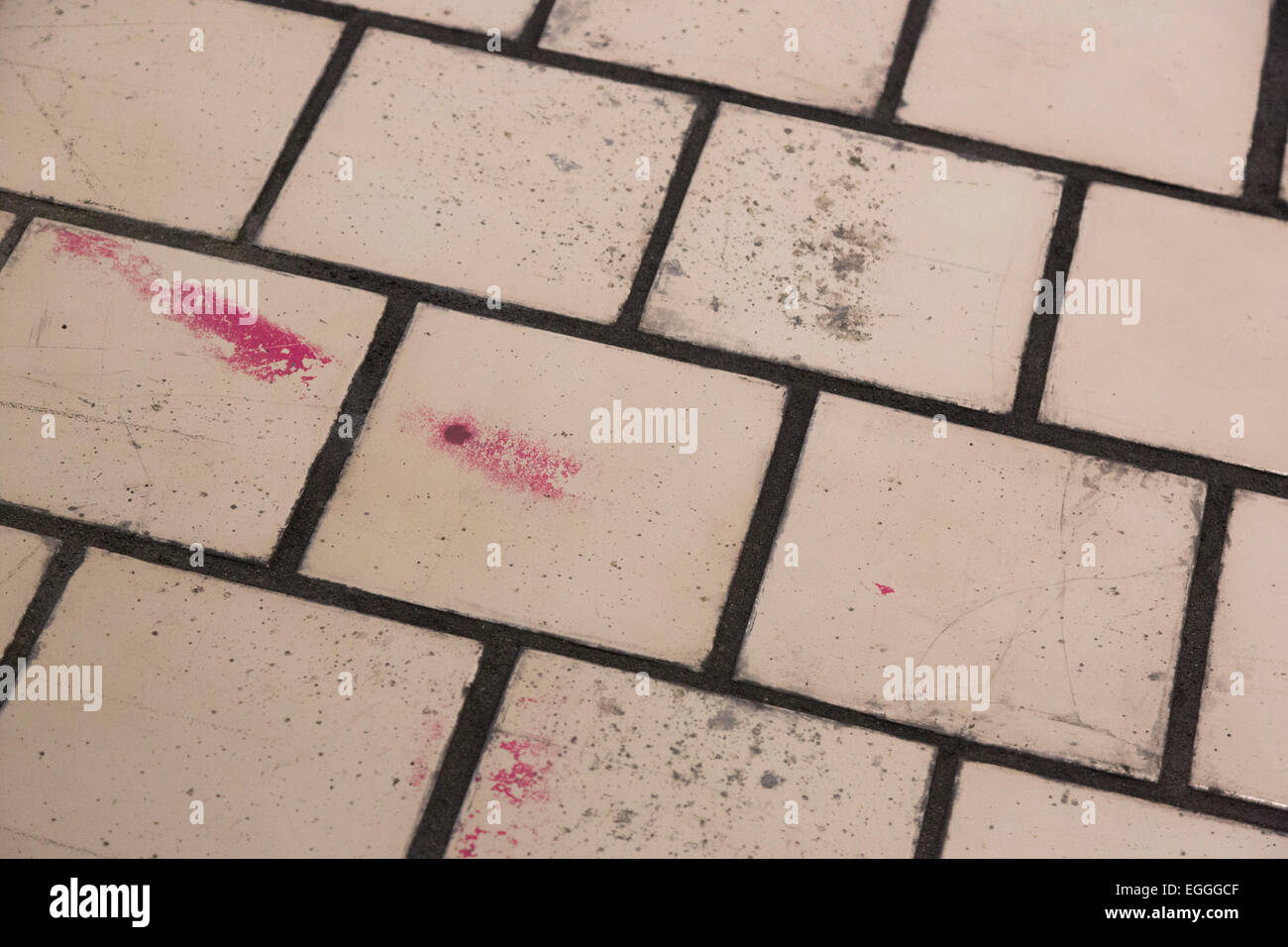 London, UK. 24 February 2015. 105 ceramic tiles and concrete floor ...