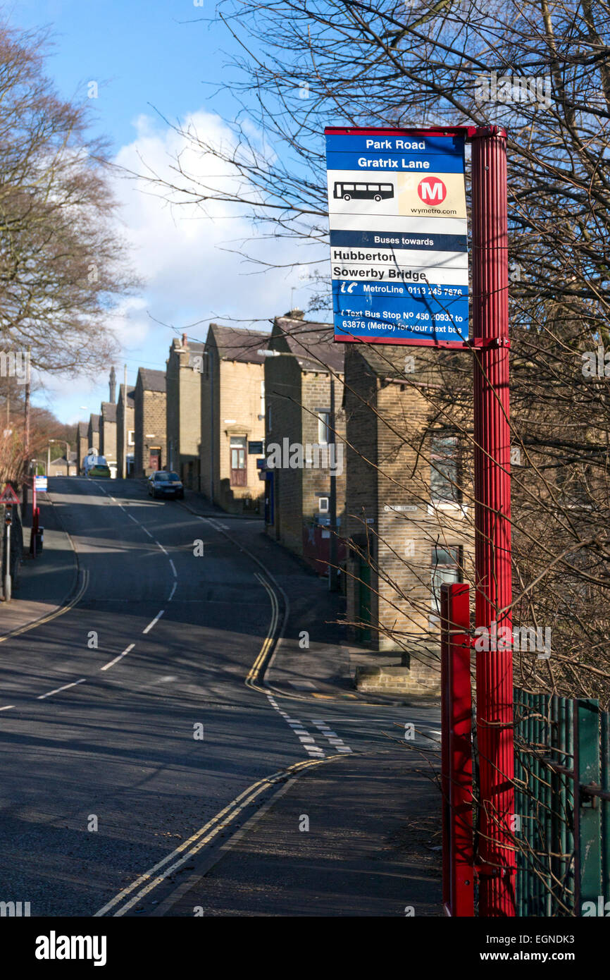 bus-stop-in-a-side-street-sowerby-bridge-west-yorkshire-EGNDK3.jpg