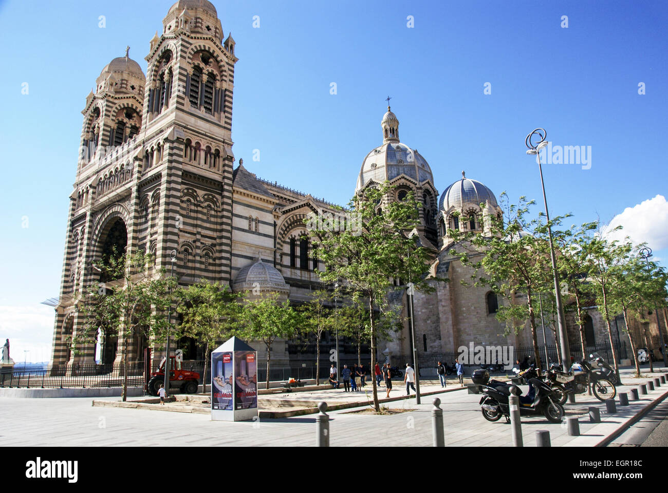 Marseille Cathedral, Roman Catholic cathedral in Marseille, southern France - Stock Image
