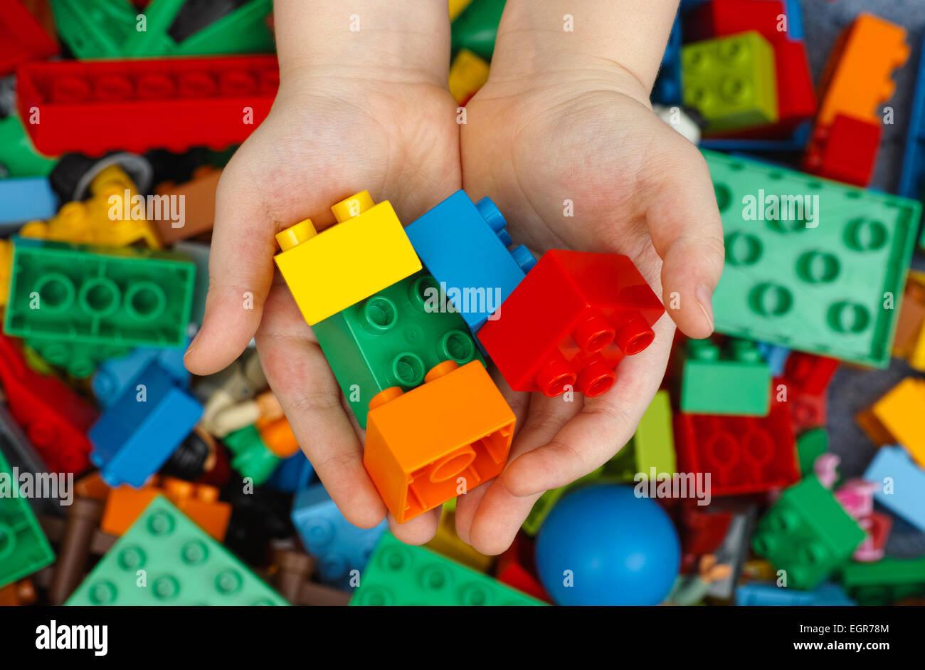 Tambov Russian Federation February 20 2015 Lego Duplo Bricks In