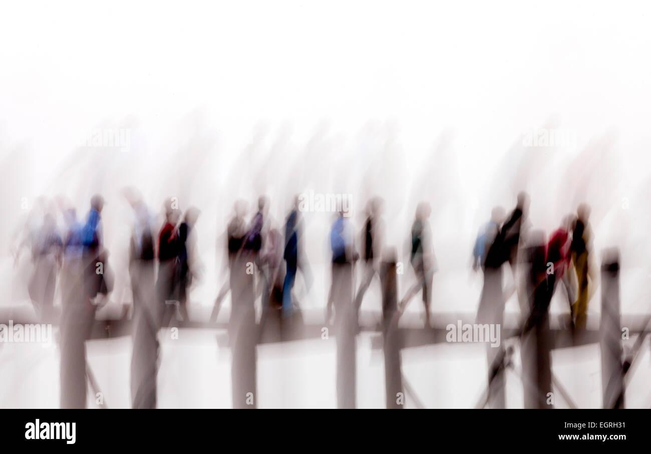 abstract-motion-blur-image-of-people-crossing-the-u-bein-bridge-mandalay-EGRH31.jpg