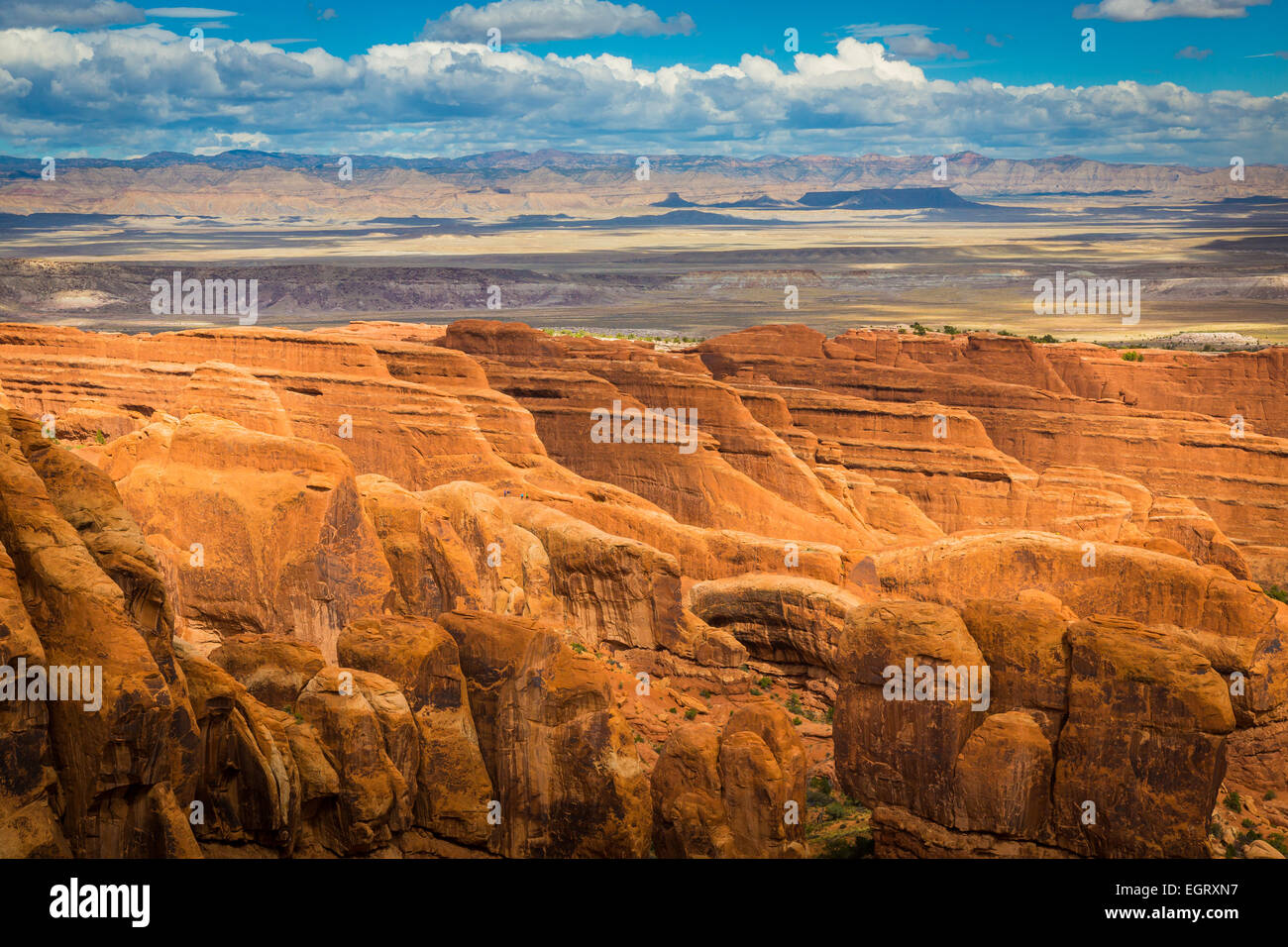 Arches National Park is a US National Park in eastern Utah. - Stock Image