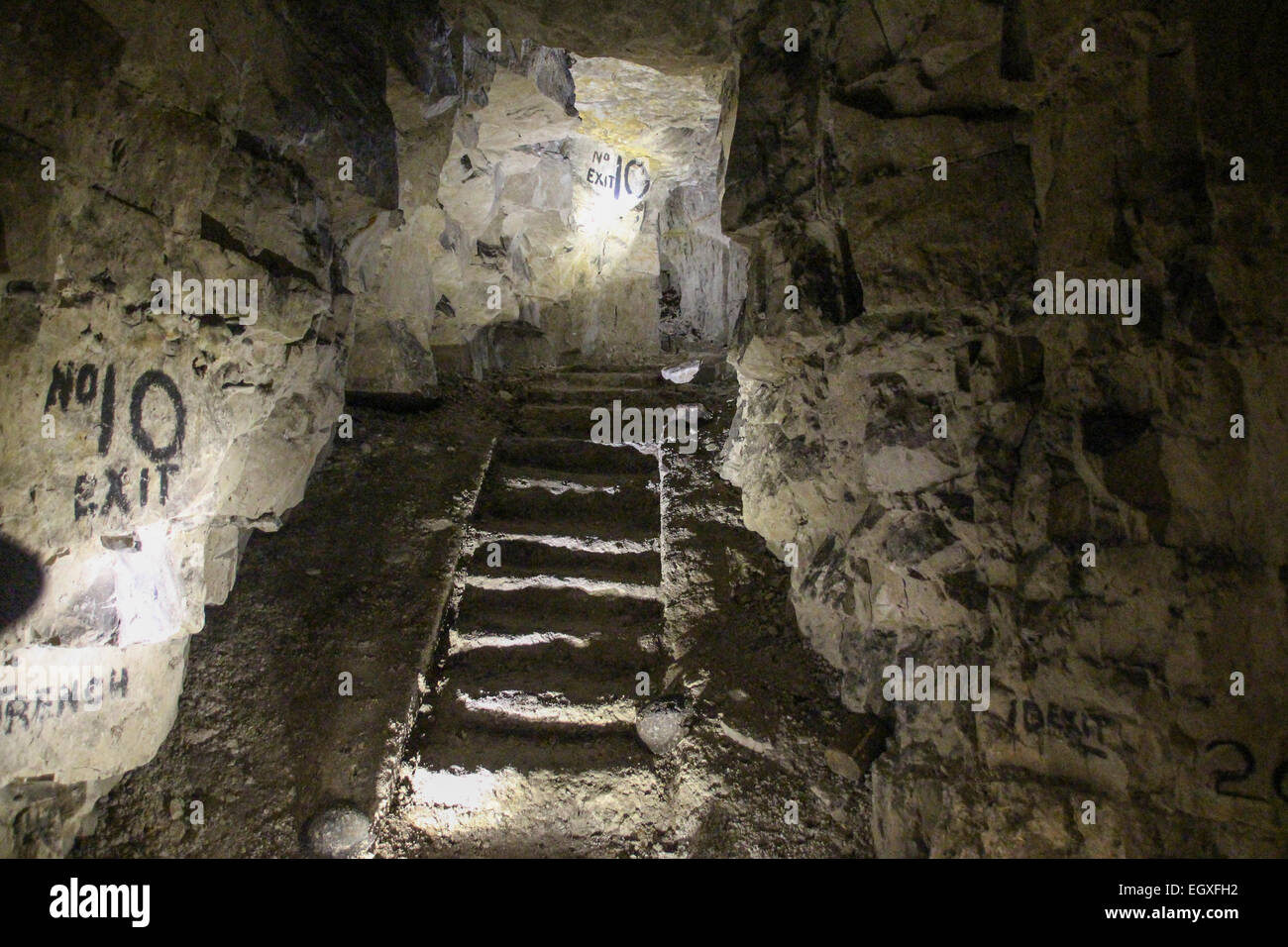 Exit stairway from Wellington Quarry, ArrasStock Photo