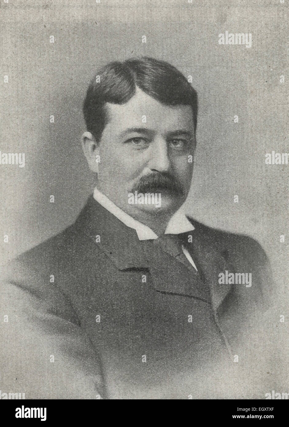 Honourable W. P. Schreiner, C.M.G., Prime Minister of Cape Colony, South Africa, circa 1895 - Stock Image