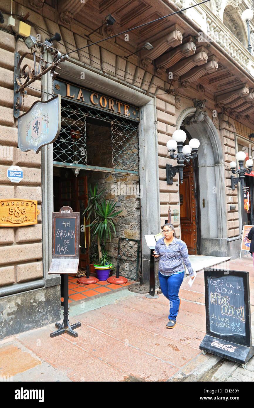 Montevideo restaurant in Old Town, Uruguay. - Stock Image