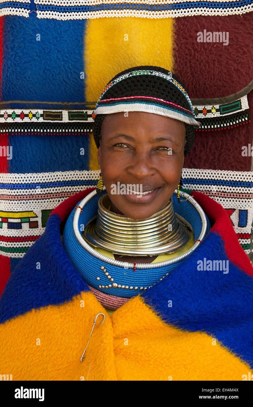 South Africa, Mpumalanga, Ndebele woman - Stock Image