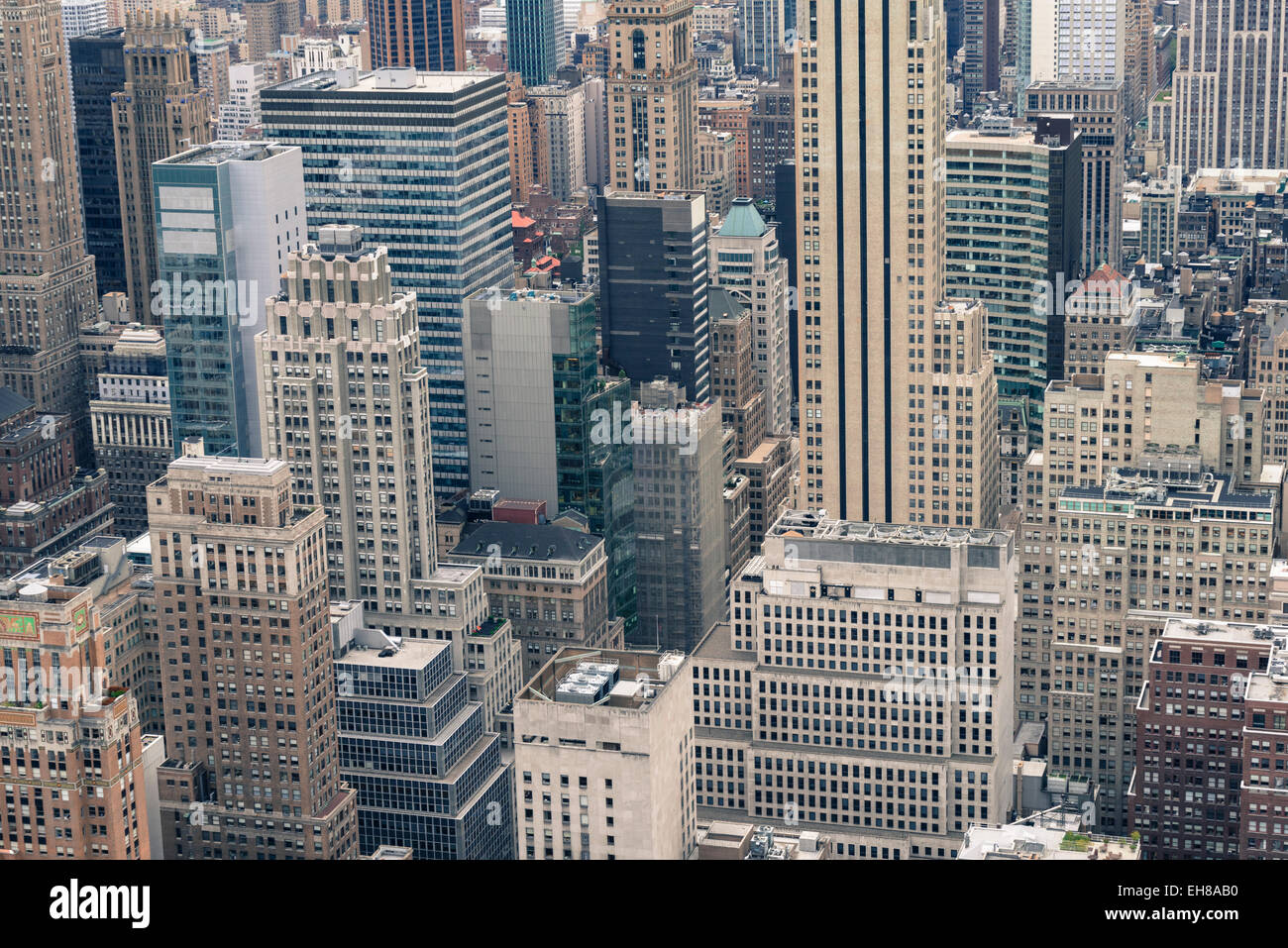 Manhattan skyscrapers, New York City, United States of America, North America - Stock Image