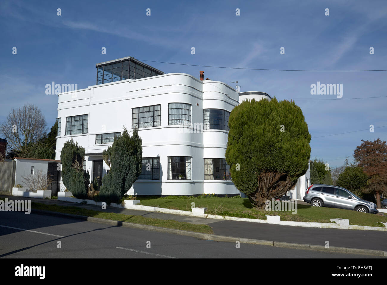 international style art deco house kent uk stock photo 79474770