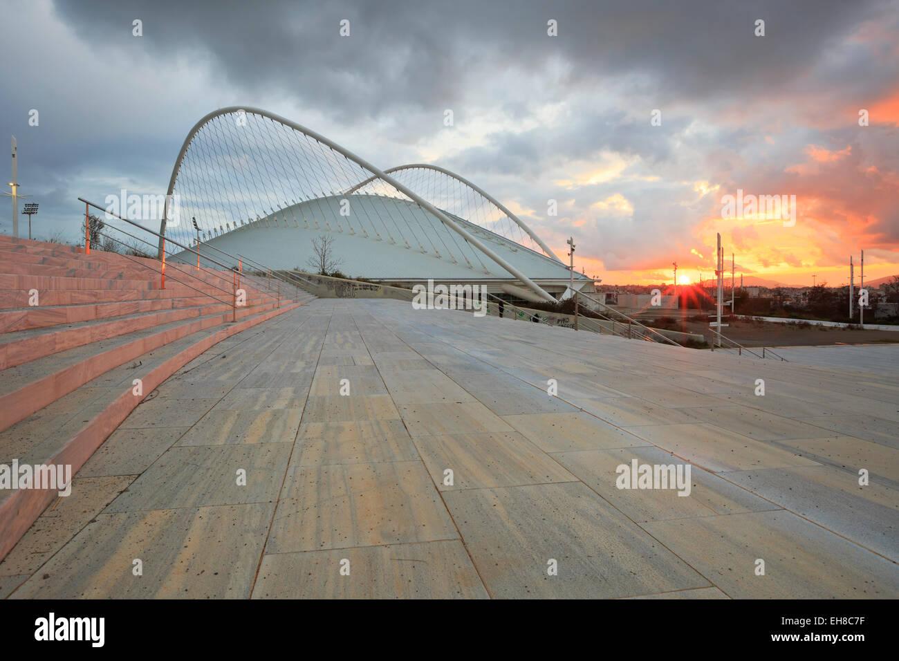 The Olympic Velodrome stadium in Athens - Stock Image