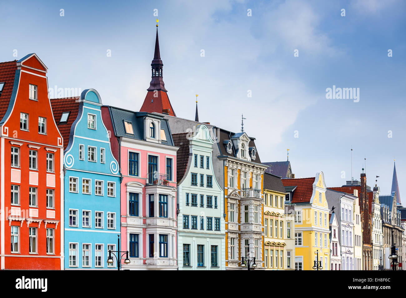 Rostock, Germany old town cityscape. - Stock Image