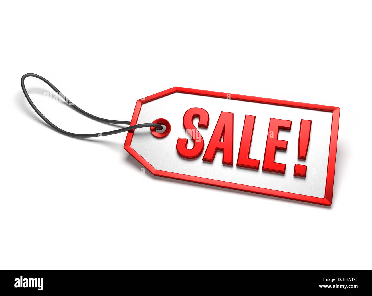 clearance sale badge white sticker with red border and string stock