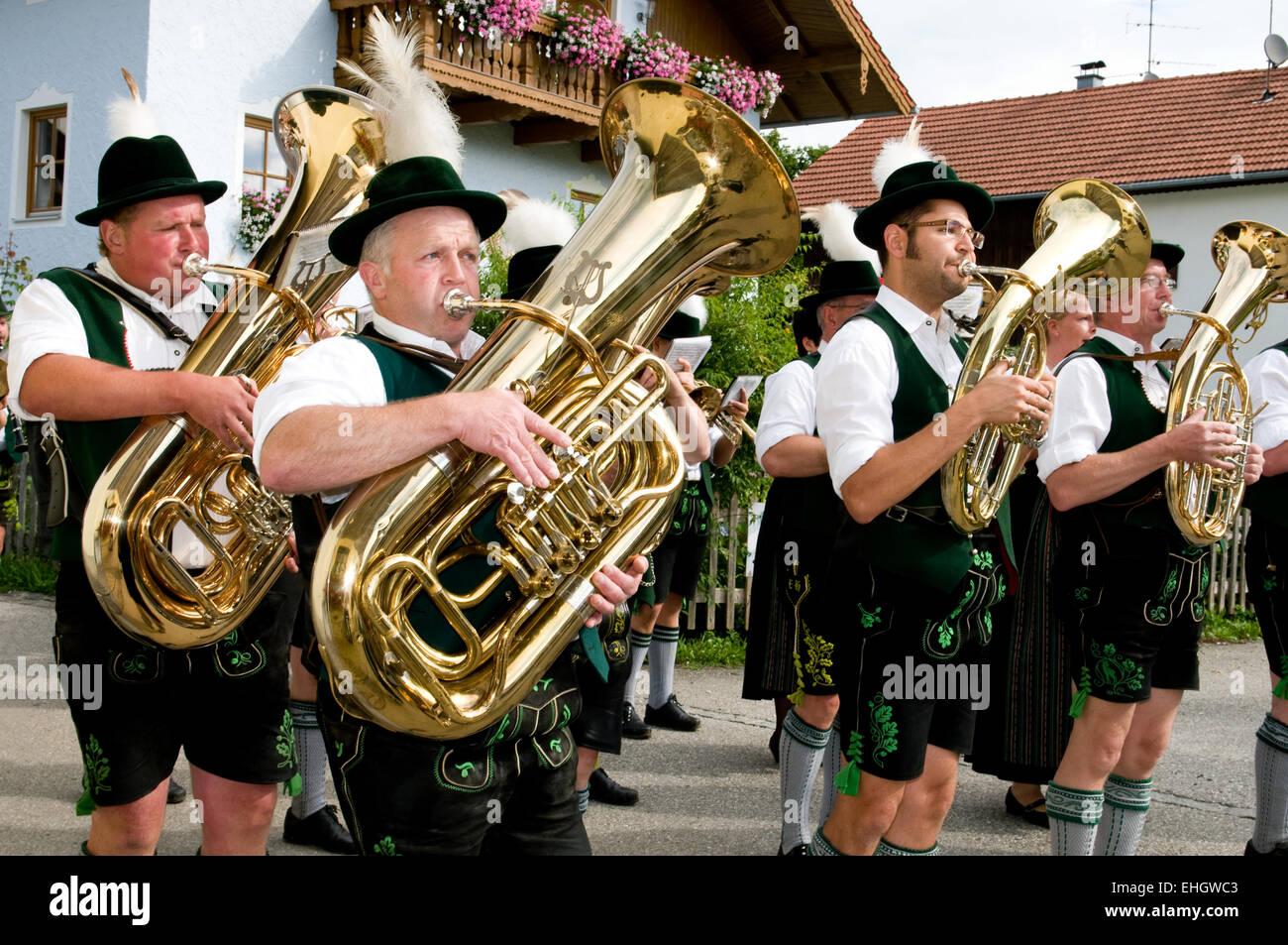 Trachtenkapelle / Bavarian music Stock Photo