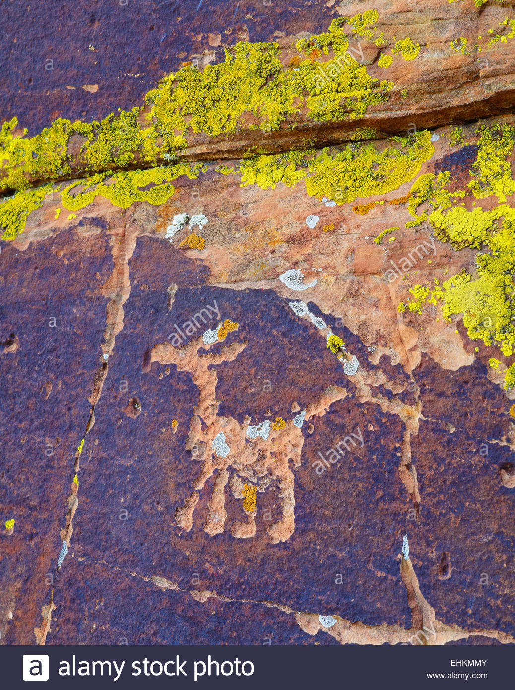 Sinagua culture petroglyph, near Montezuma Well. Coconino National Forest, Arizona. - Stock Image
