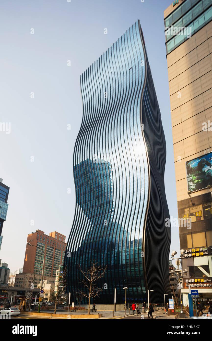 Asia, Republic of Korea, South Korea, Seoul, GT Tower; Designed by Architecten Consort - Stock Image