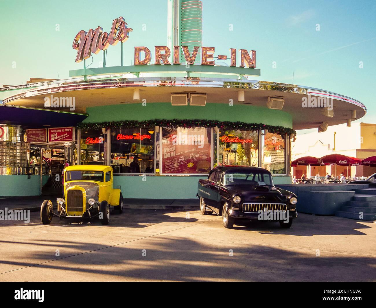 Mels Drive In American Diner At Universal Studios