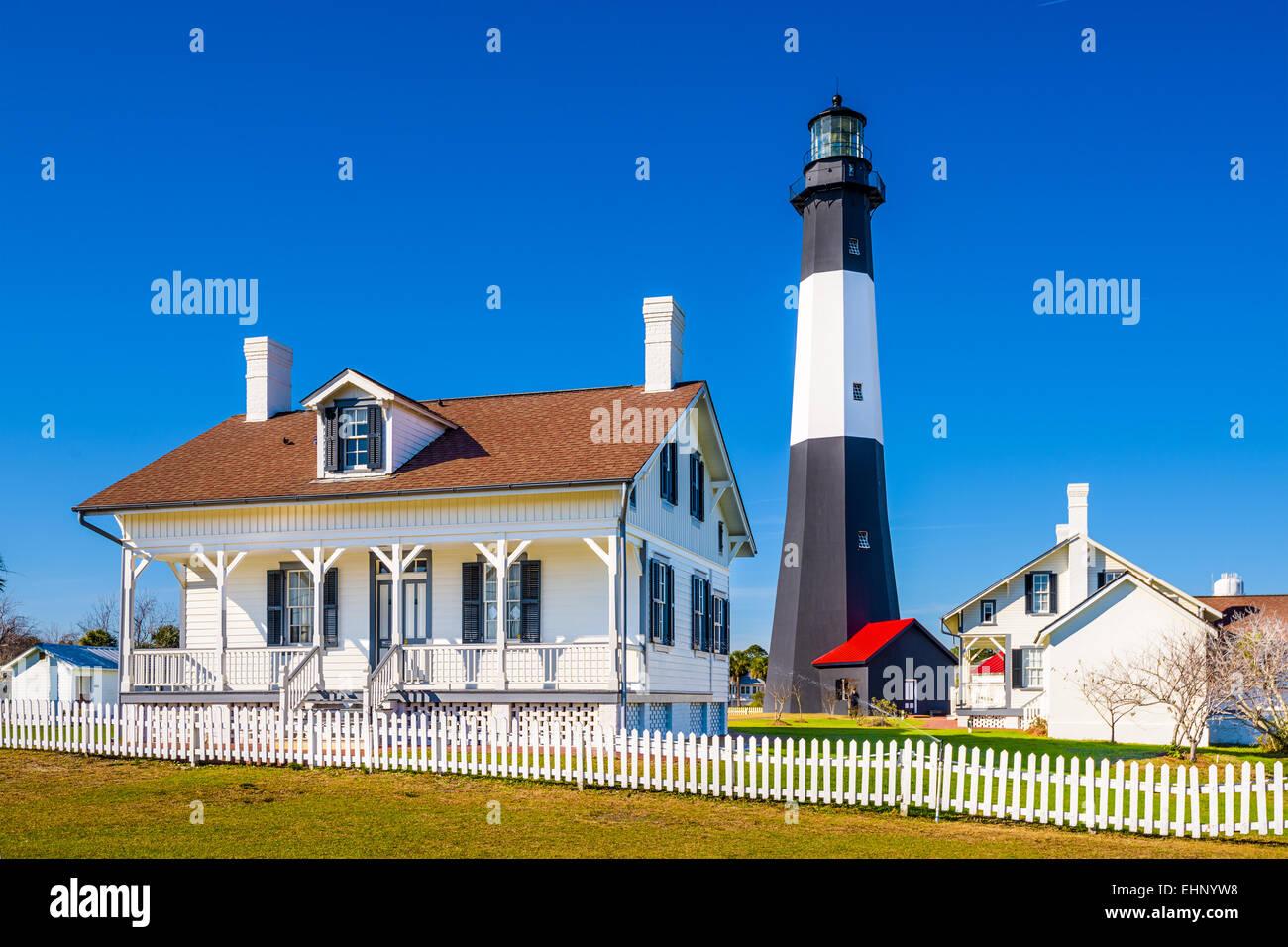 Tybee Island Light House of Tybee Island, Georgia, USA. - Stock Image