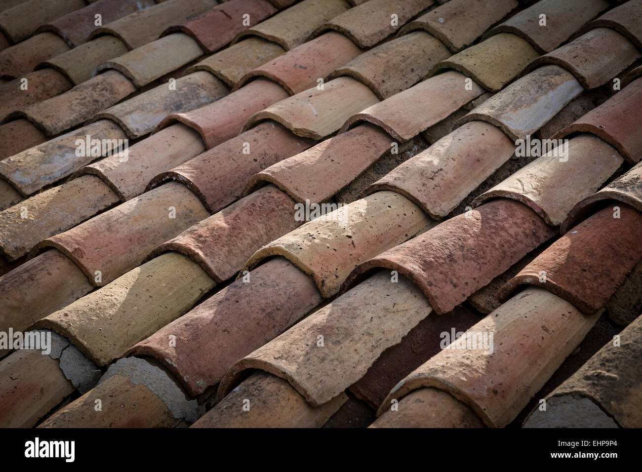 Close up of curved terracotta roof tiles andalucia spain stock close up of curved terracotta roof tiles andalucia spain dailygadgetfo Image collections