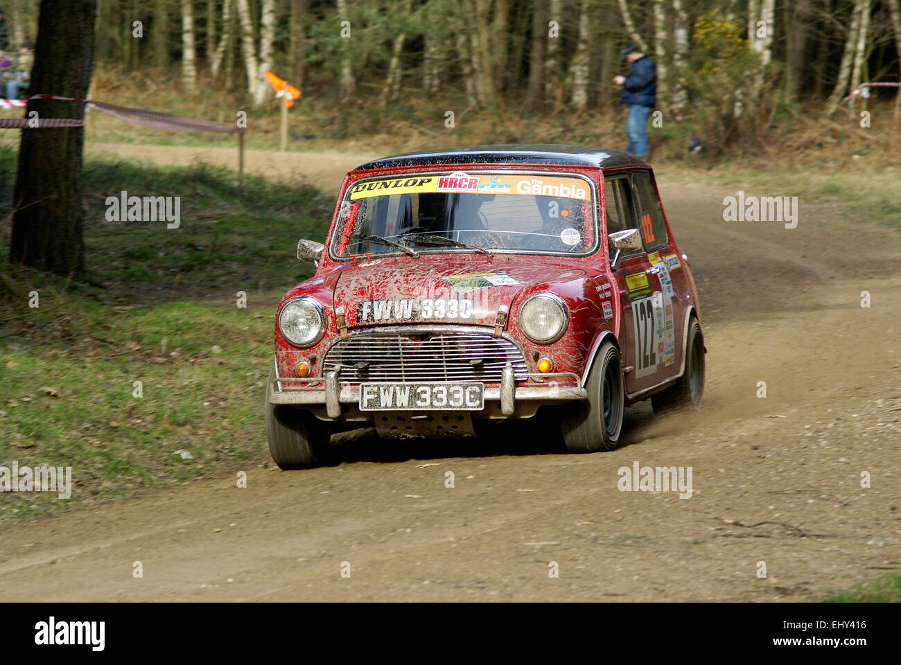 Mini Cooper S Rally Car - Stock Image