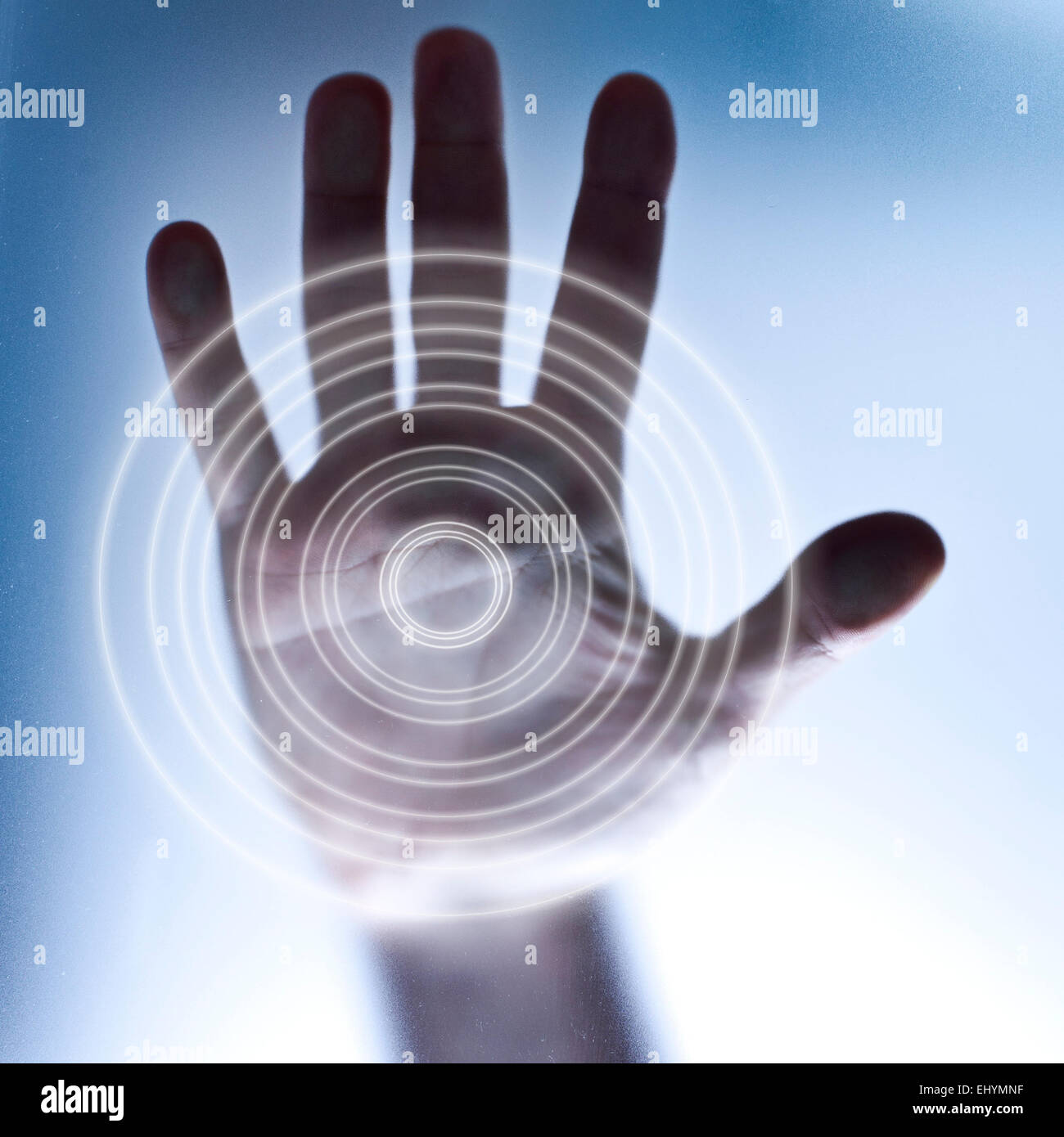 Concept for touch screen and future technology - Stock Image