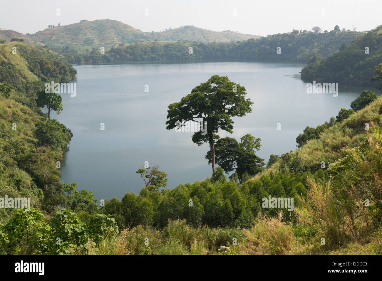 Crater lakes. Fort Portale area. Uganda. - Stock Image