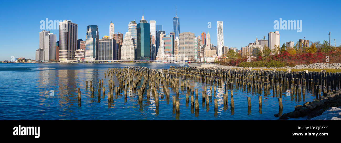 USA, New York City, Downtown Manhattan Financial district, One World Trade Center Freedom Tower - Stock Image