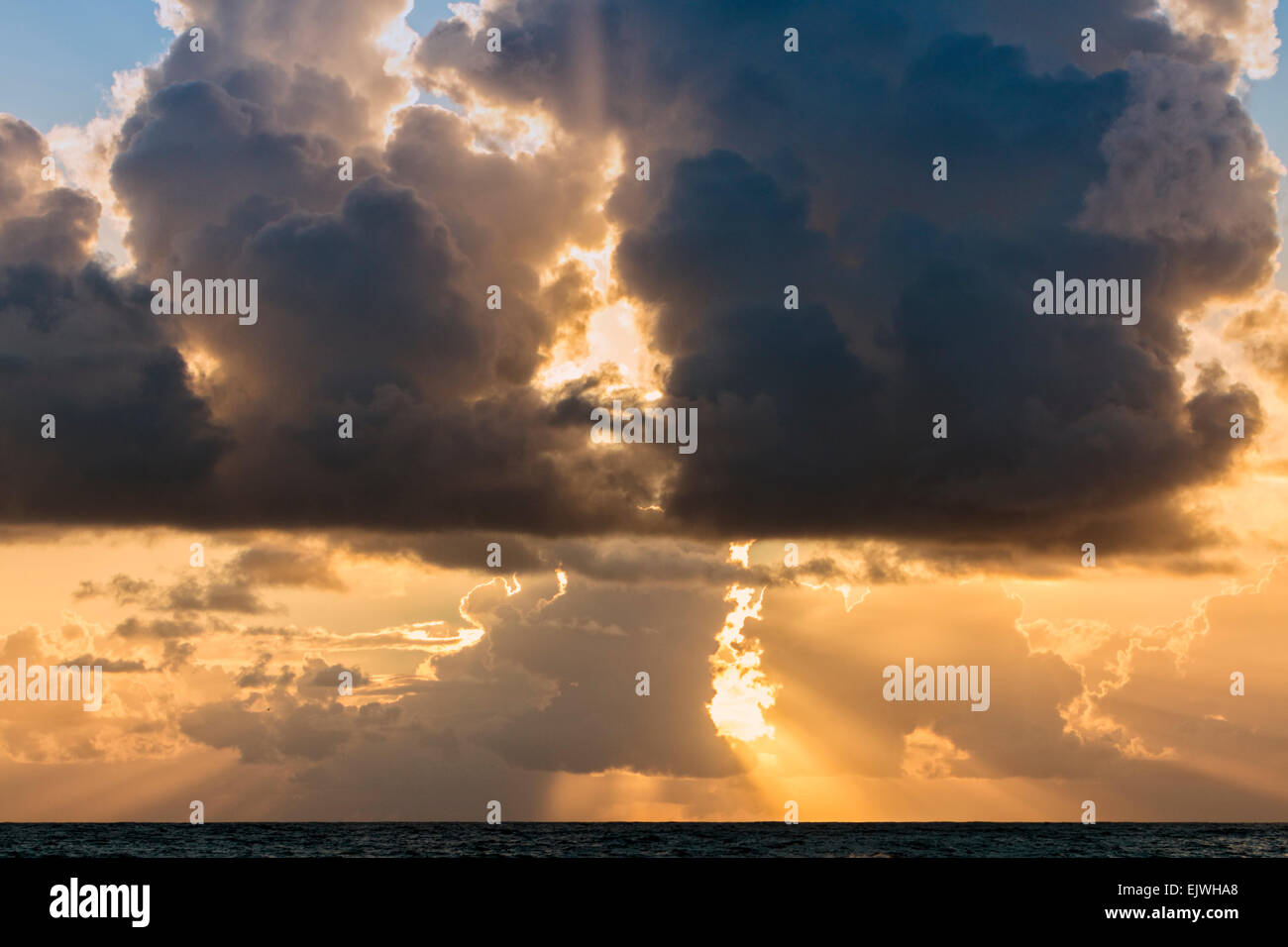 Early Morning Sunrise on the east cost of Florida - Indian Harbor Beach - Stock Image