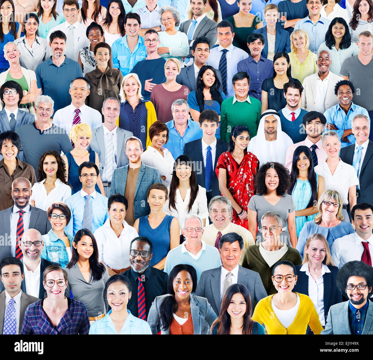 Large Group of Diverse Multiethnic People Stock Photo