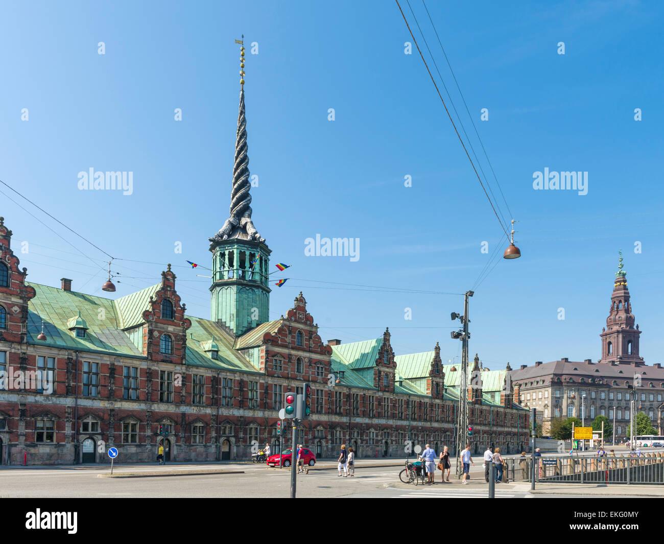 The Stock Exchange ('Børsen')(1619-1640), Copenhagen is the oldest stock exchange in Denmark.  It is - Stock Image