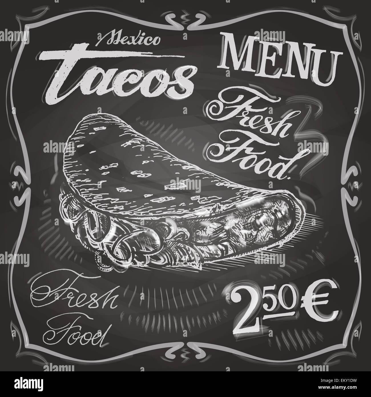 burritos tacos vector logo design template fast food or menu board