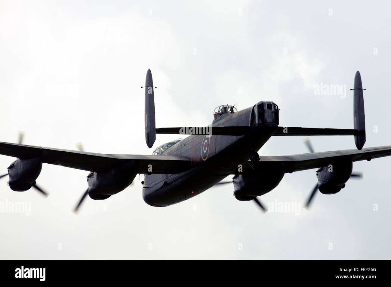 Avro 683 Lancaster B1 UK Royal Air Force at  Farnborough International Airshow 2014 Stock Photo