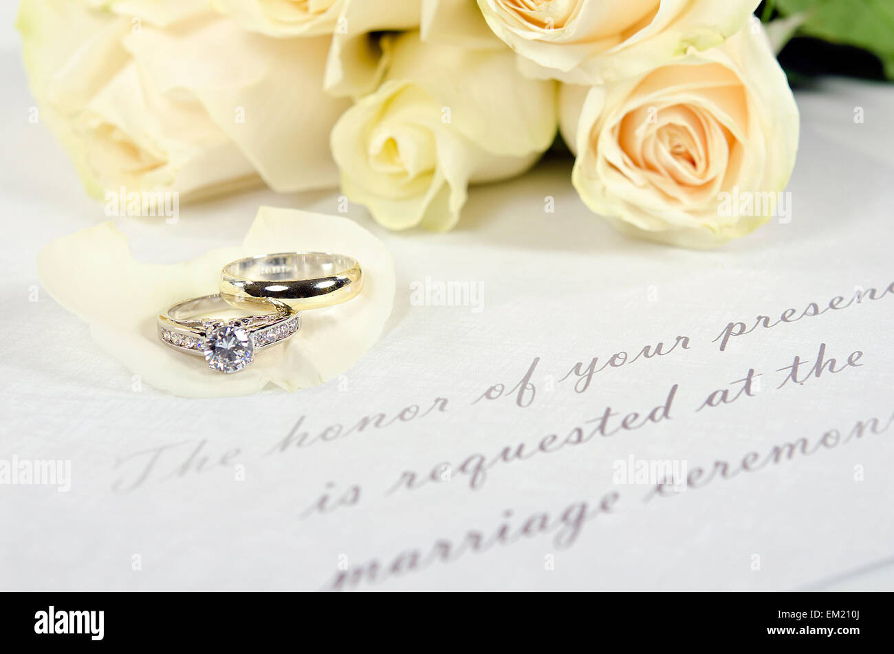 Wedding Ring Invitations - Wedding Dress Collections