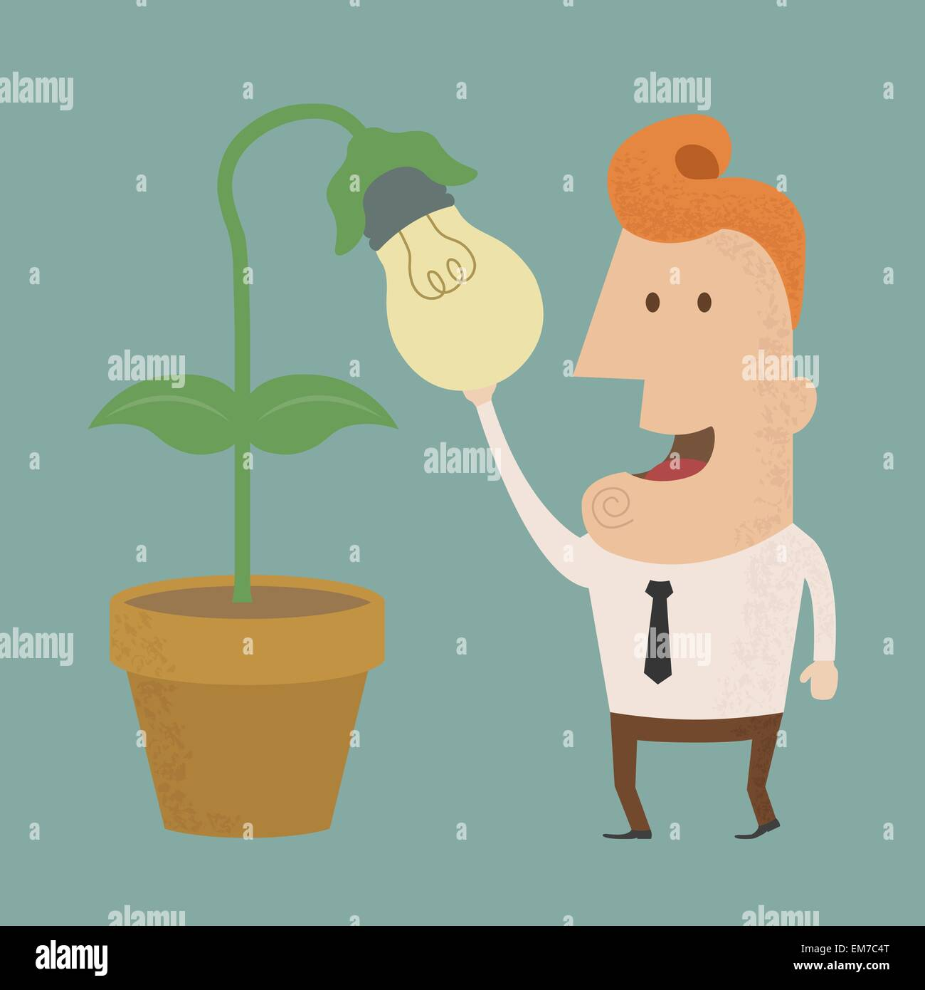 Business man harvest of thought , eps10 vector format - Stock Image