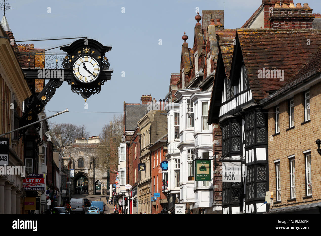 Winchester High Street, Winchester Hampshire UK - Stock Image