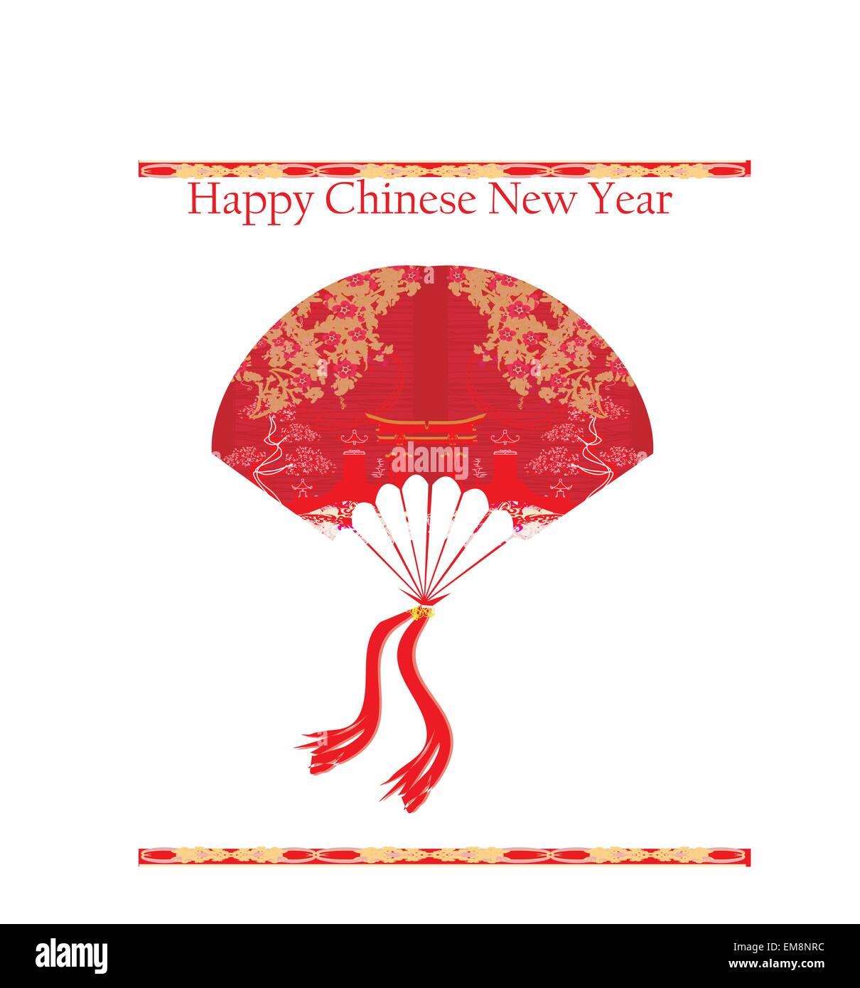 Decorative Chinese landscape - Happy Chinese New Year Card Desig ...